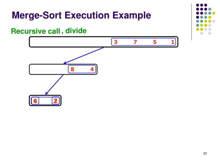 Merge-Sort Execution Example