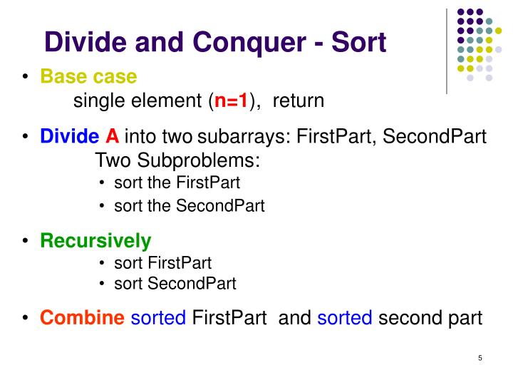 Divide and Conquer - Sort
