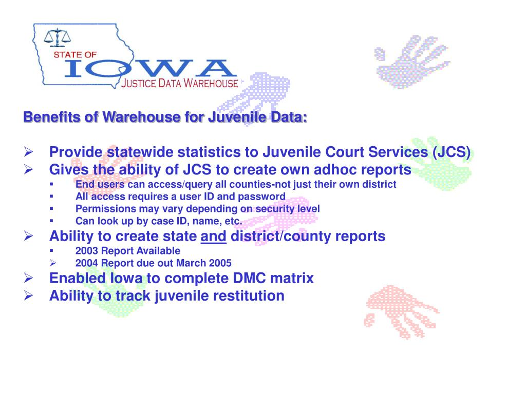 Benefits of Warehouse for Juvenile Data: