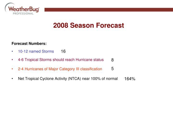2008 Season Forecast