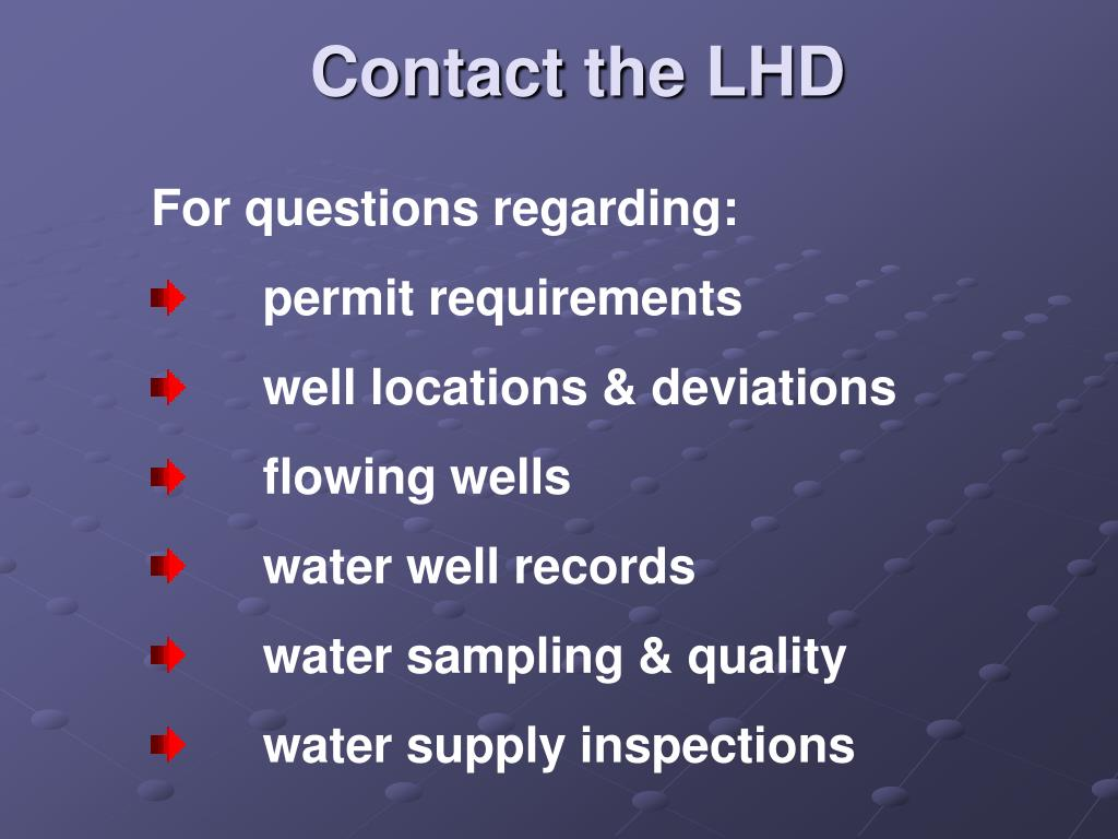 Contact the LHD