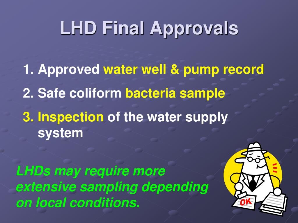 LHD Final Approvals