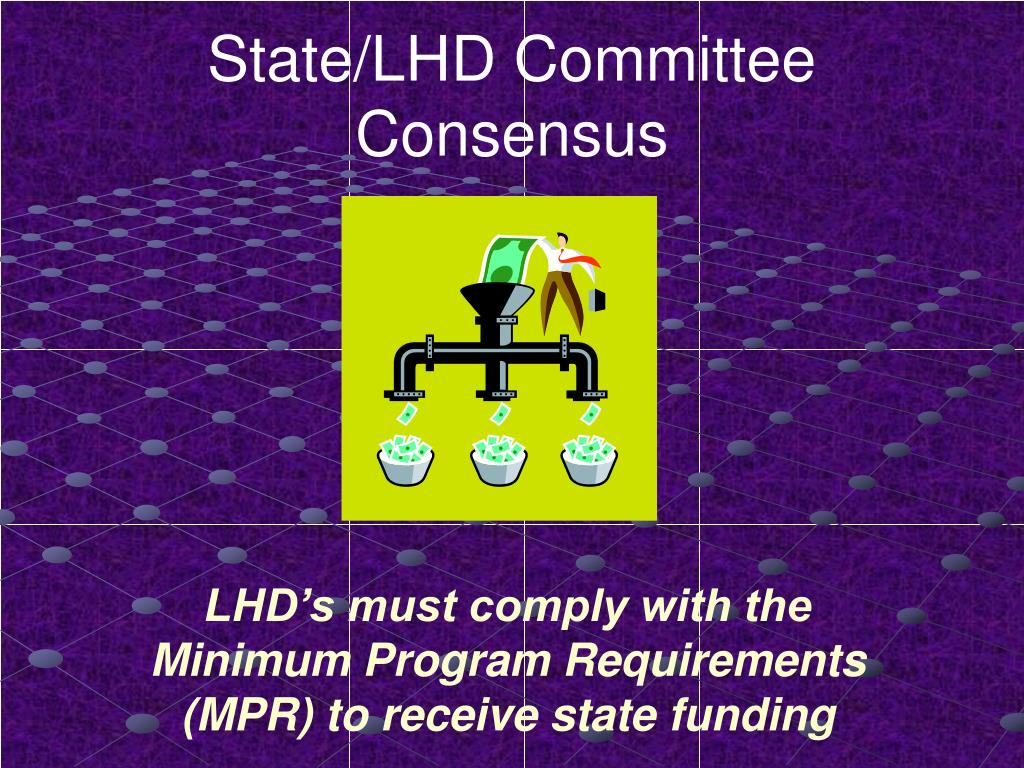 State/LHD Committee Consensus