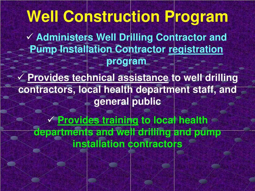 Well Construction Program