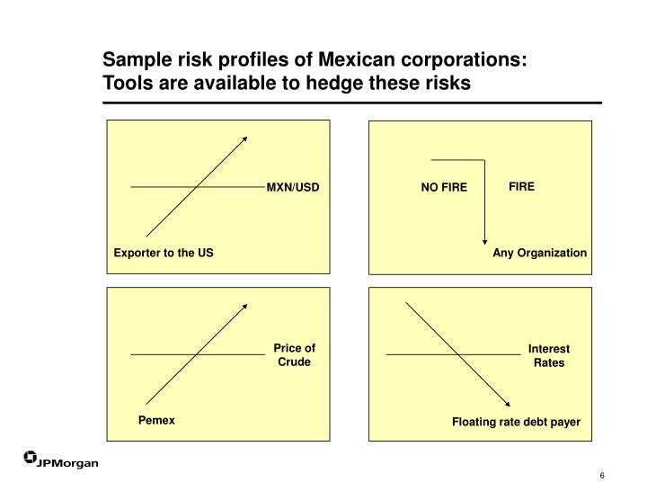 Sample risk profiles of Mexican corporations: