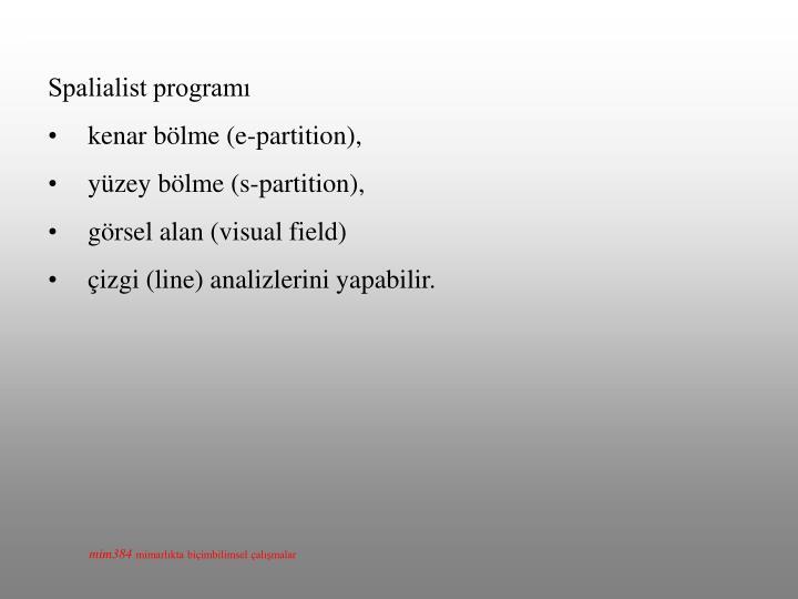 Spalialist programı