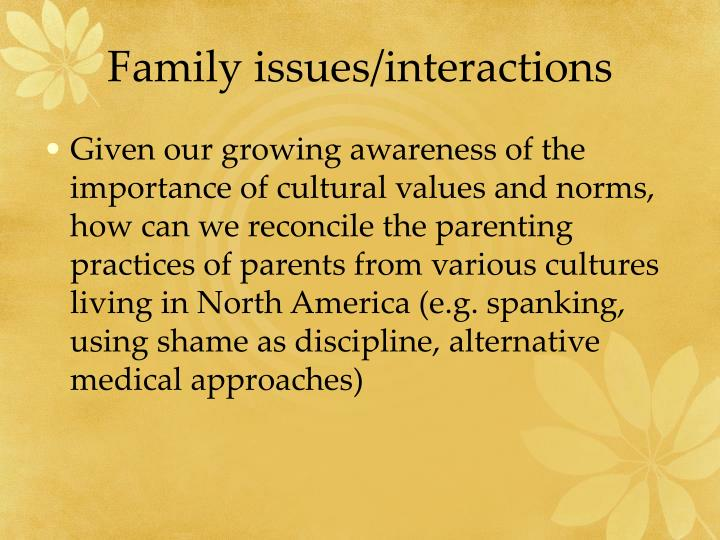 Family issues/interactions