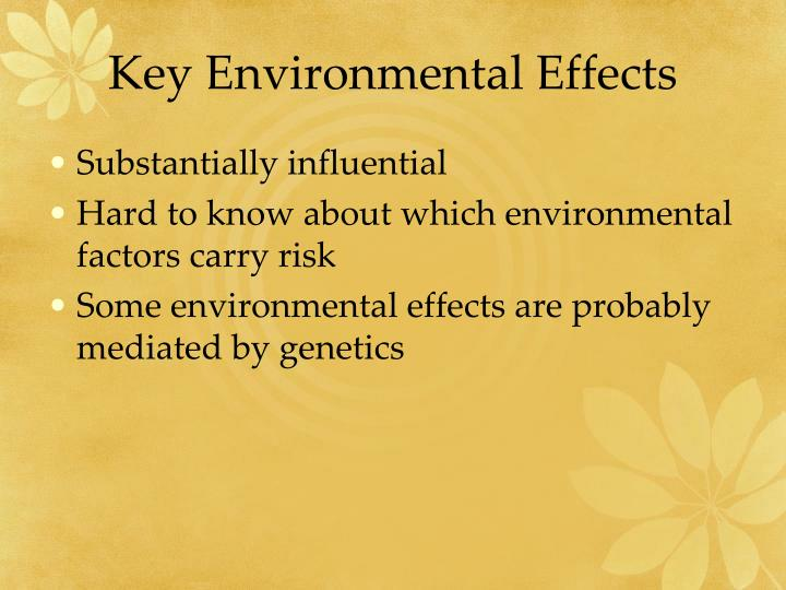 Key environmental effects