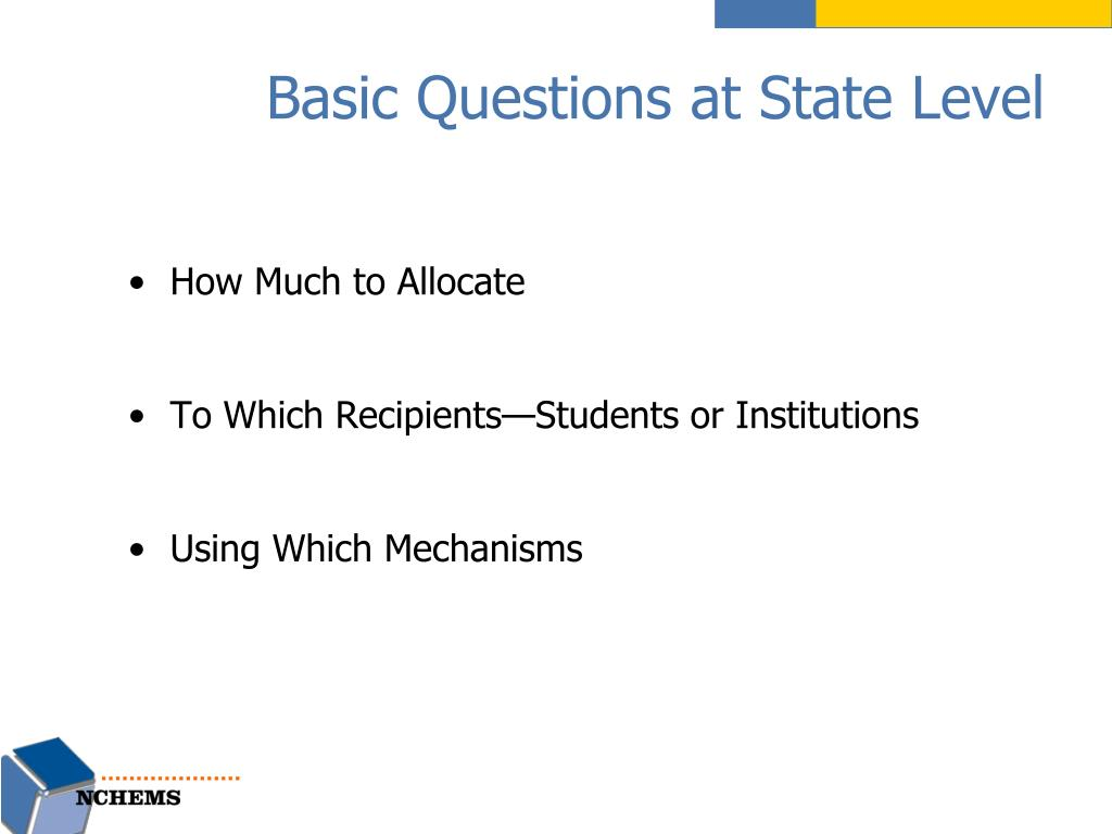 Basic Questions at State Level