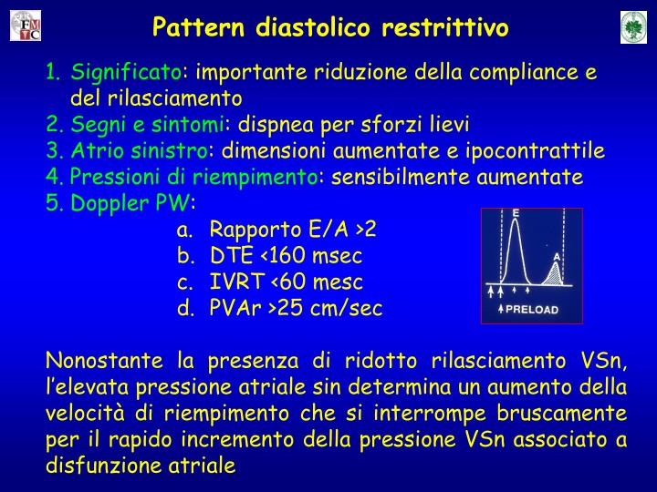 Pattern diastolico restrittivo