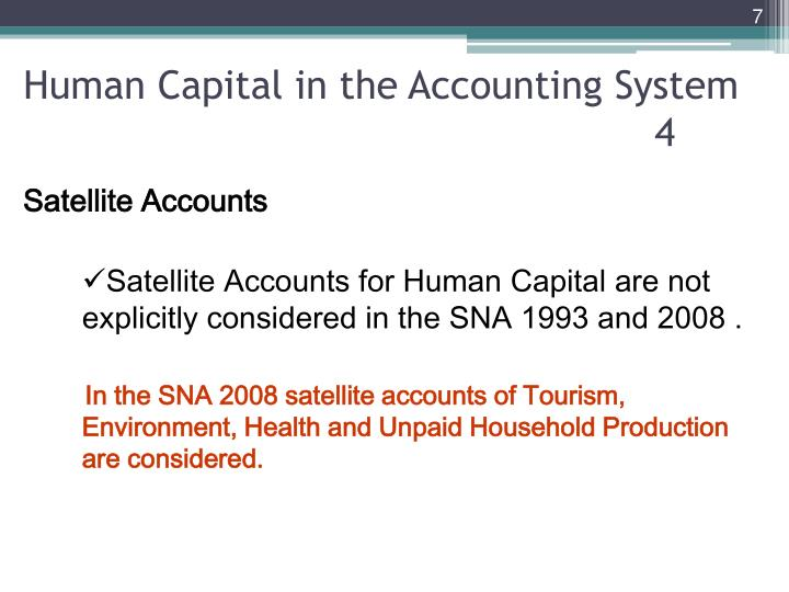 Human Capital in the Accounting System