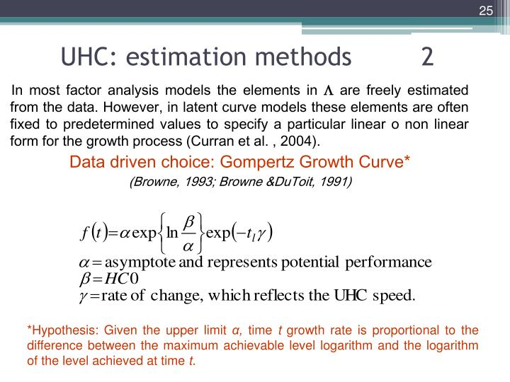 UHC: estimation methods         2