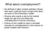 what about unemployment