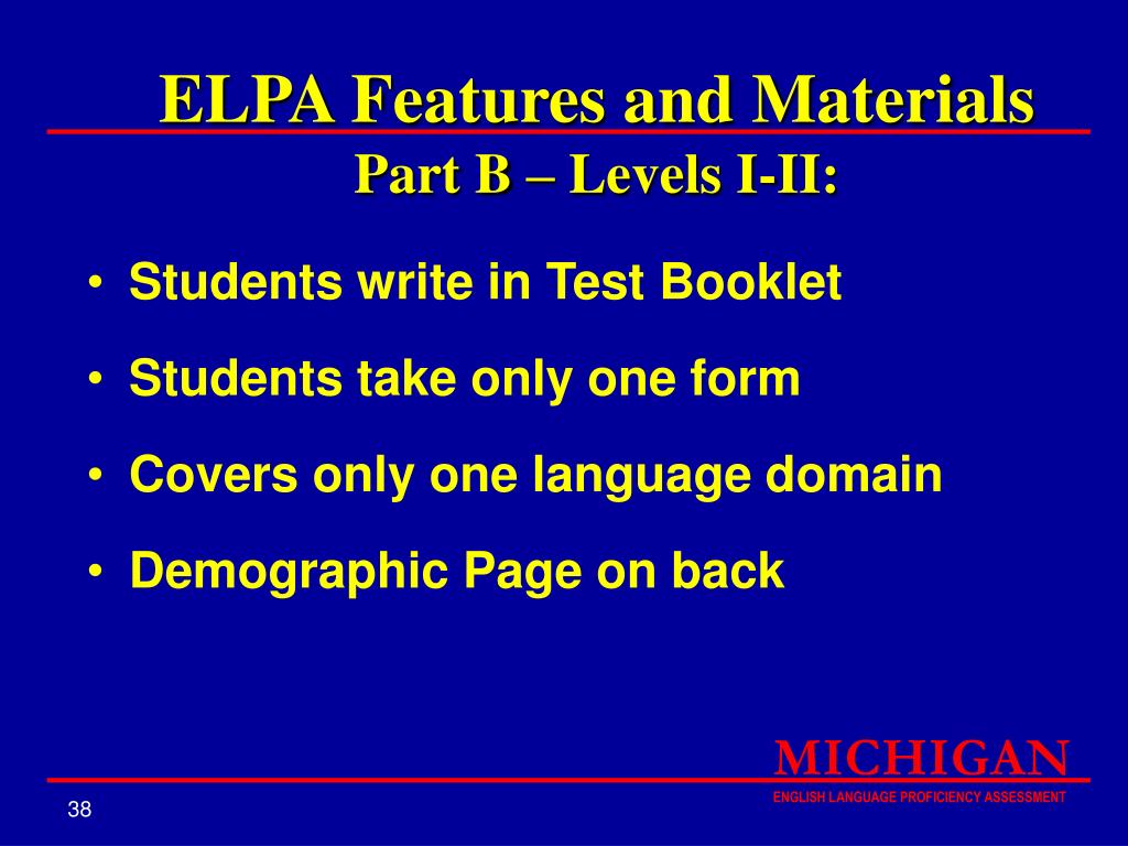 ELPA Features and Materials