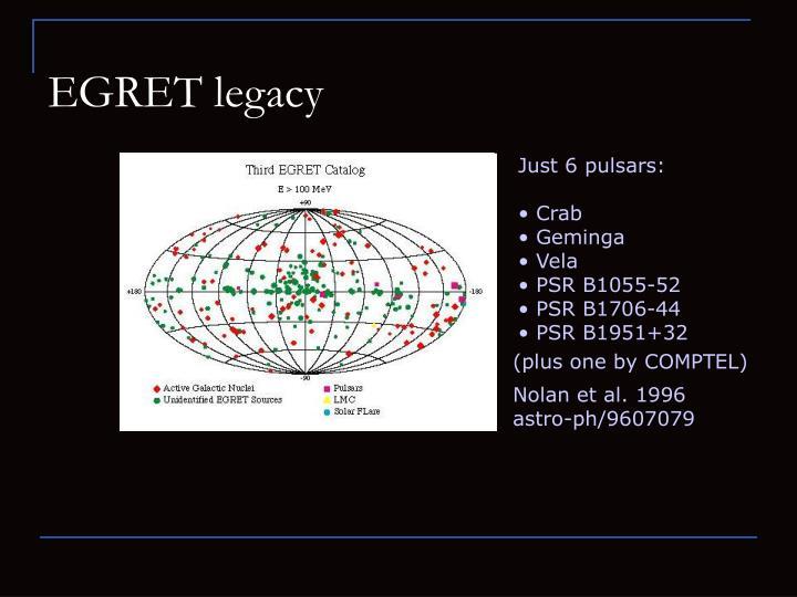 EGRET legacy