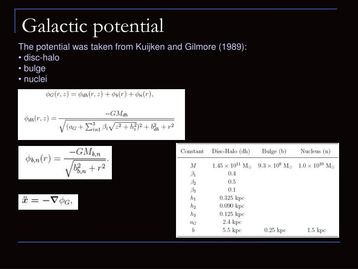 Galactic potential