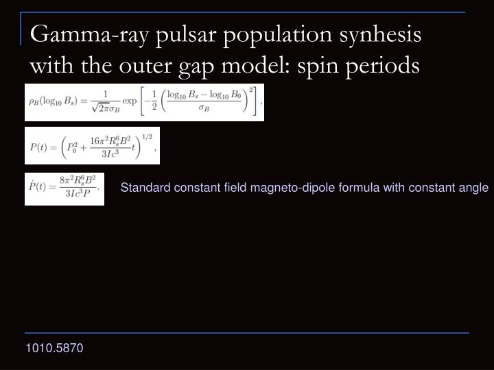 Gamma-ray pulsar population synhesis with the outer gap model: spin periods