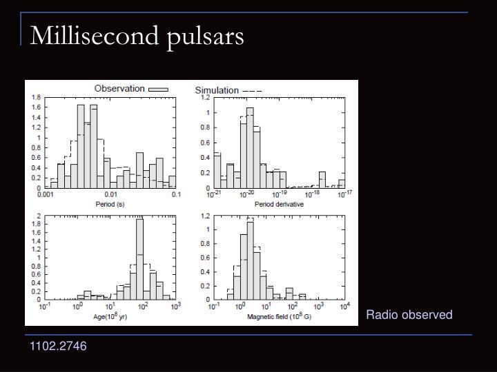 Millisecond pulsars