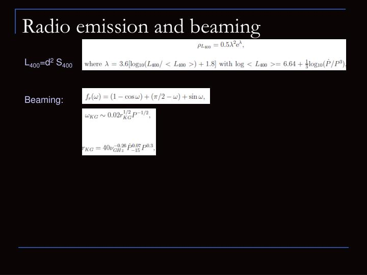 Radio emission and beaming
