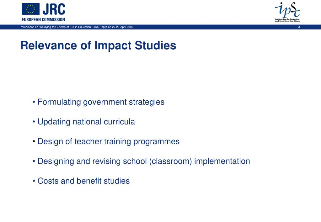 Relevance of Impact Studies