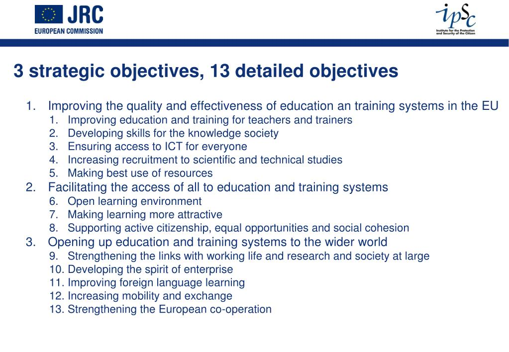 Improving the quality and effectiveness of education an training systems in the EU