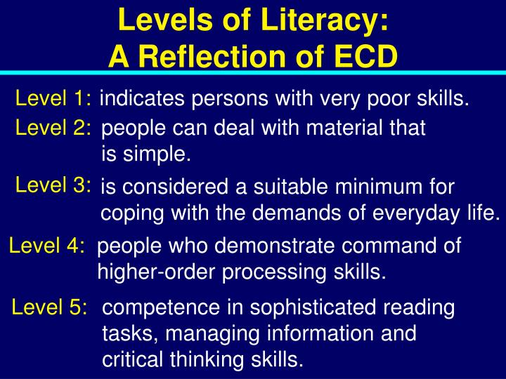 Levels of Literacy: