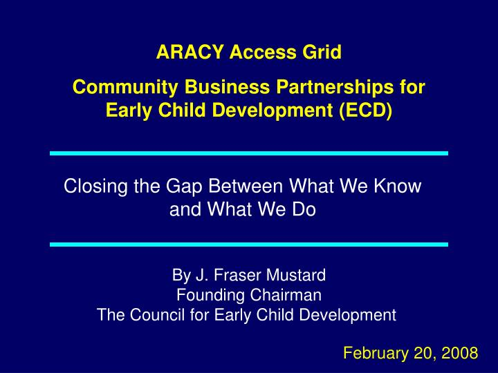 ARACY Access Grid