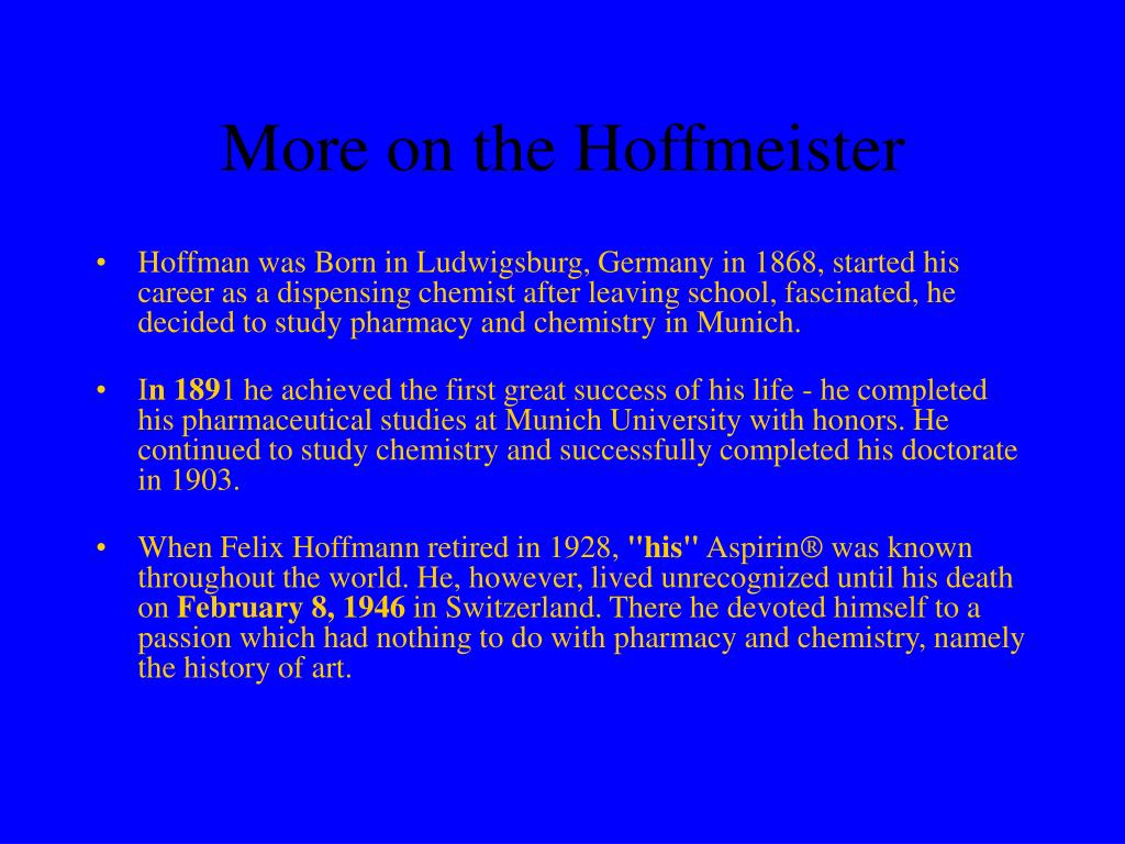 More on the Hoffmeister