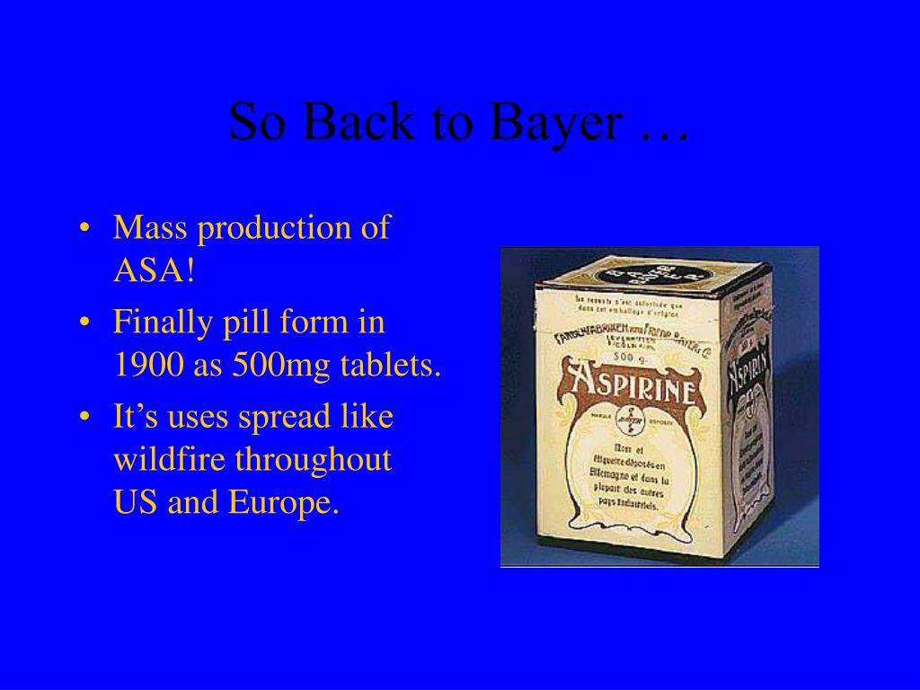 So Back to Bayer …