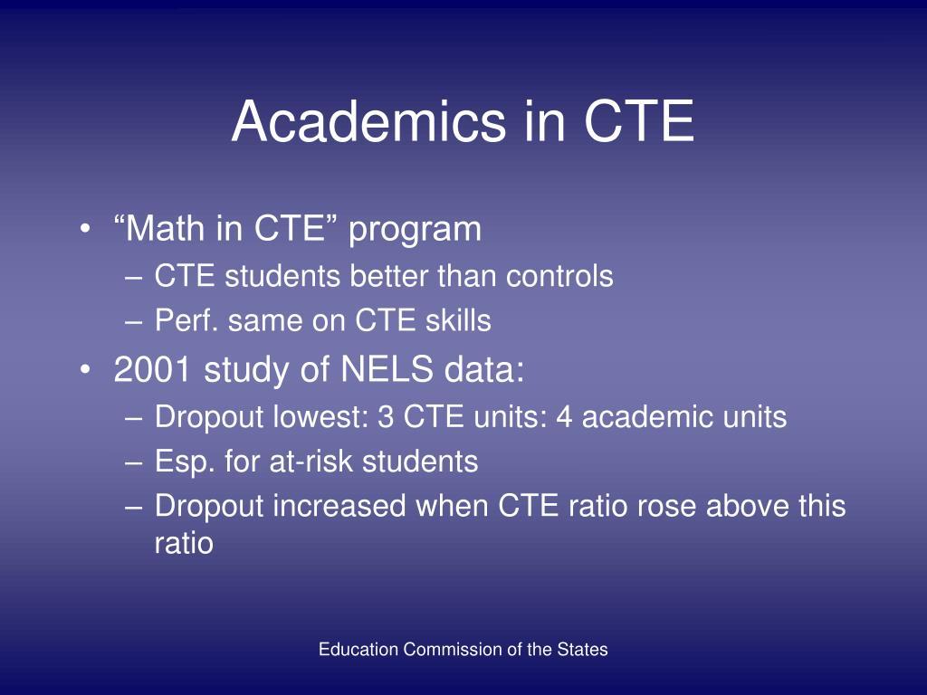 Academics in CTE