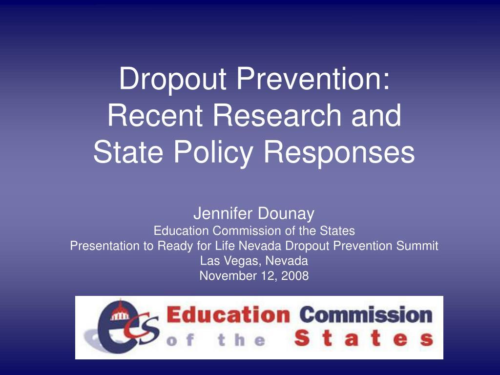 Dropout Prevention: