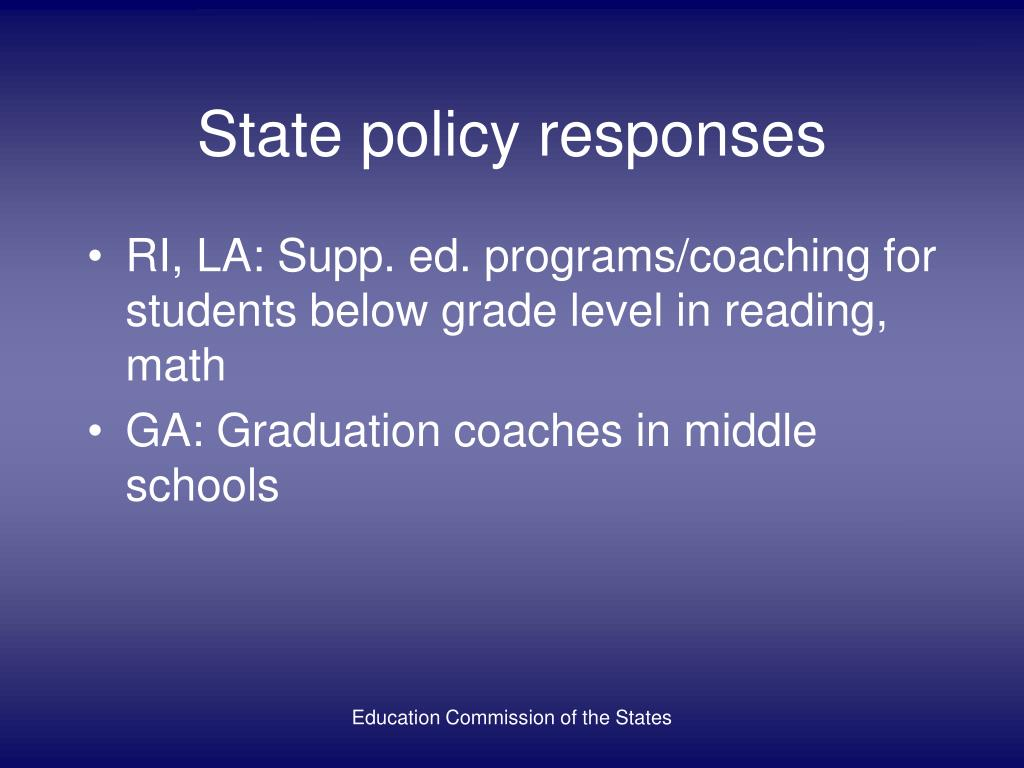 State policy responses