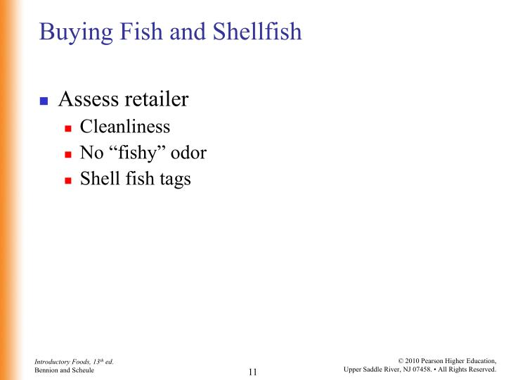 Buying Fish and Shellfish