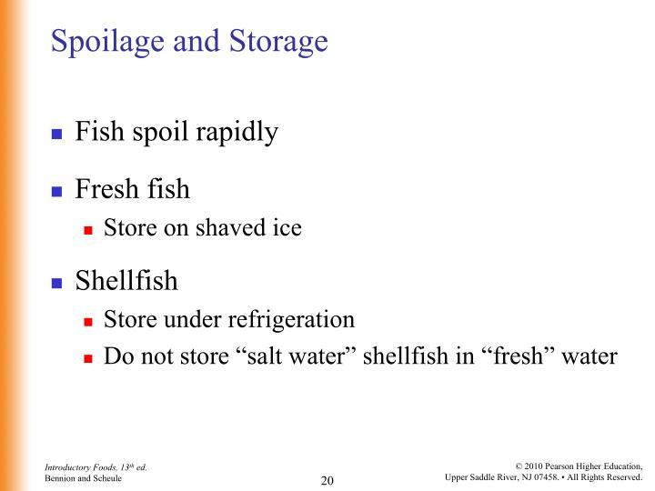 Spoilage and Storage