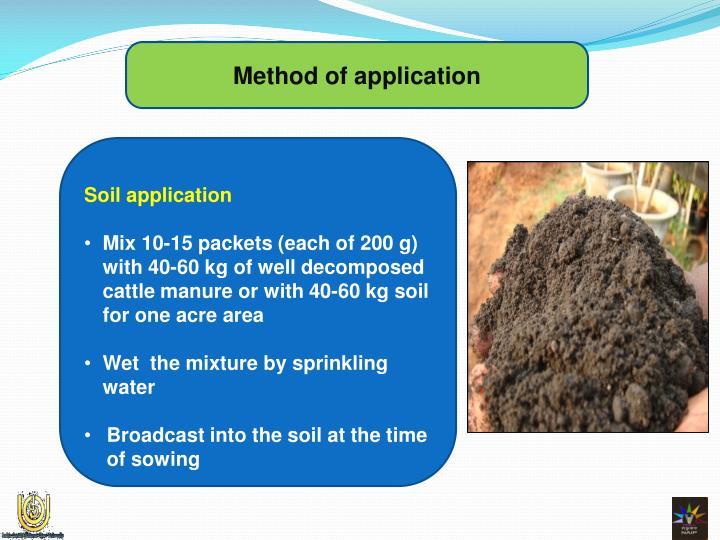Method of application
