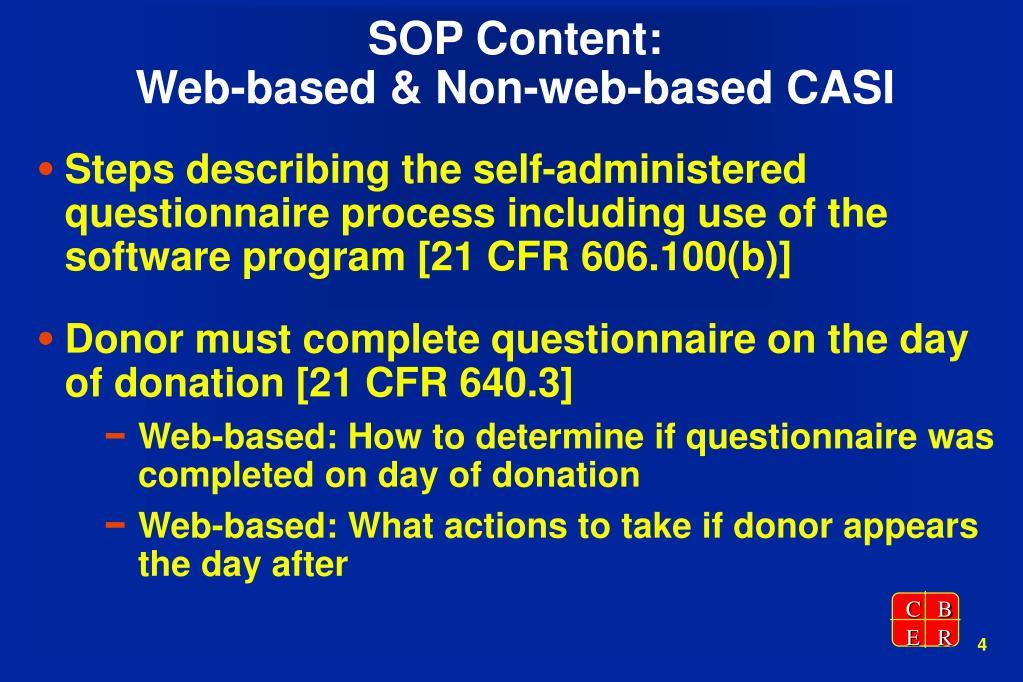 SOP Content: