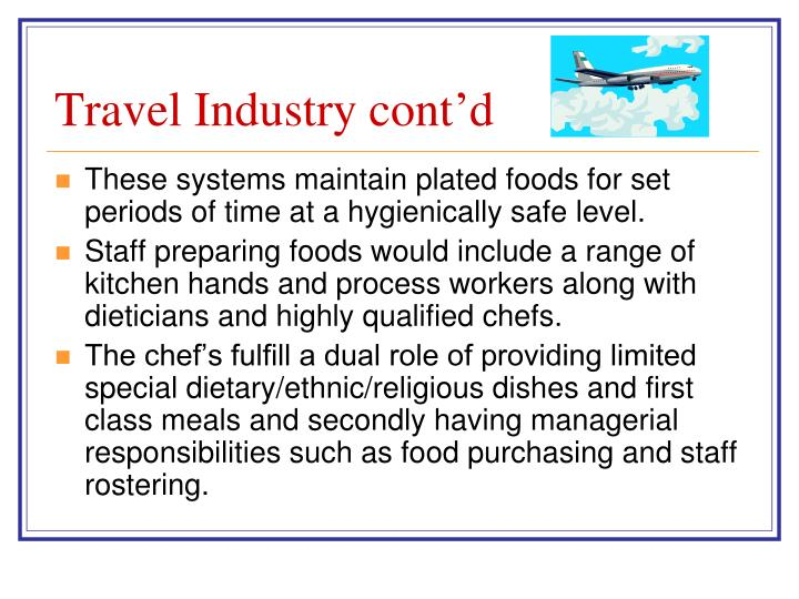 Travel Industry cont'd