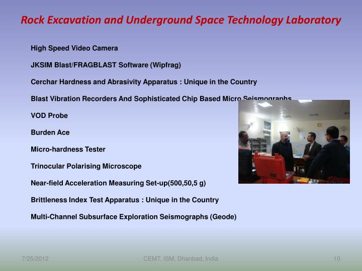 Rock Excavation and Underground Space Technology Laboratory