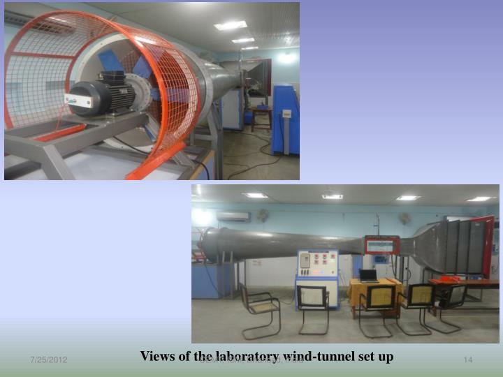 Views of the laboratory wind-tunnel set up