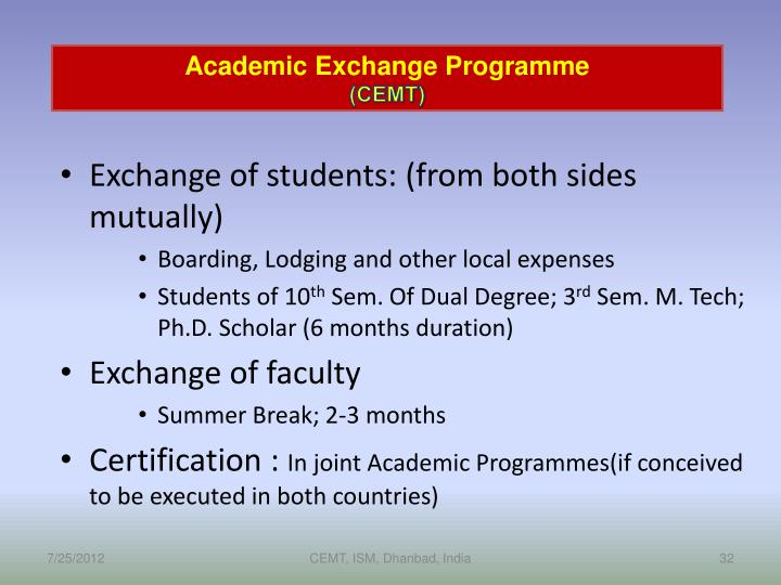 Academic Exchange