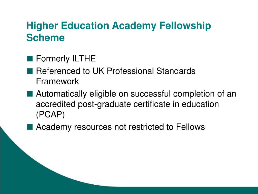Higher Education Academy Fellowship Scheme