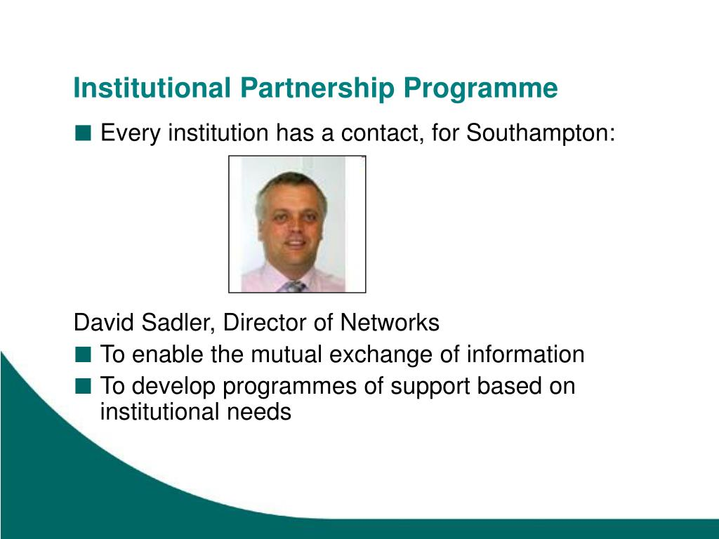 Institutional Partnership Programme