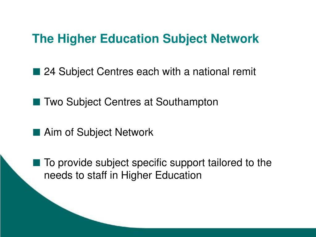 The Higher Education Subject Network