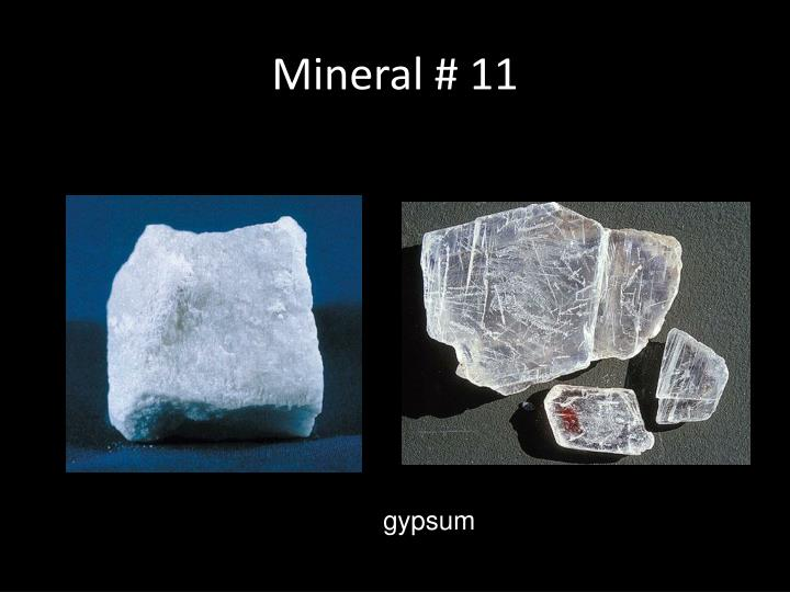 Mineral # 11