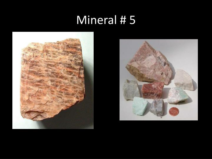 Mineral # 5