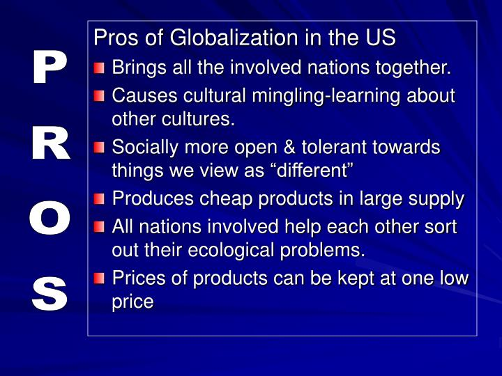 Pros of Globalization in the US