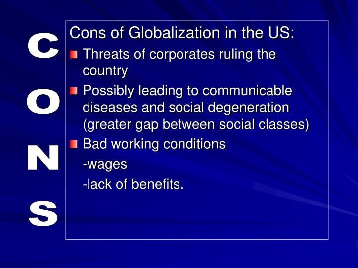 Cons of Globalization in the US:
