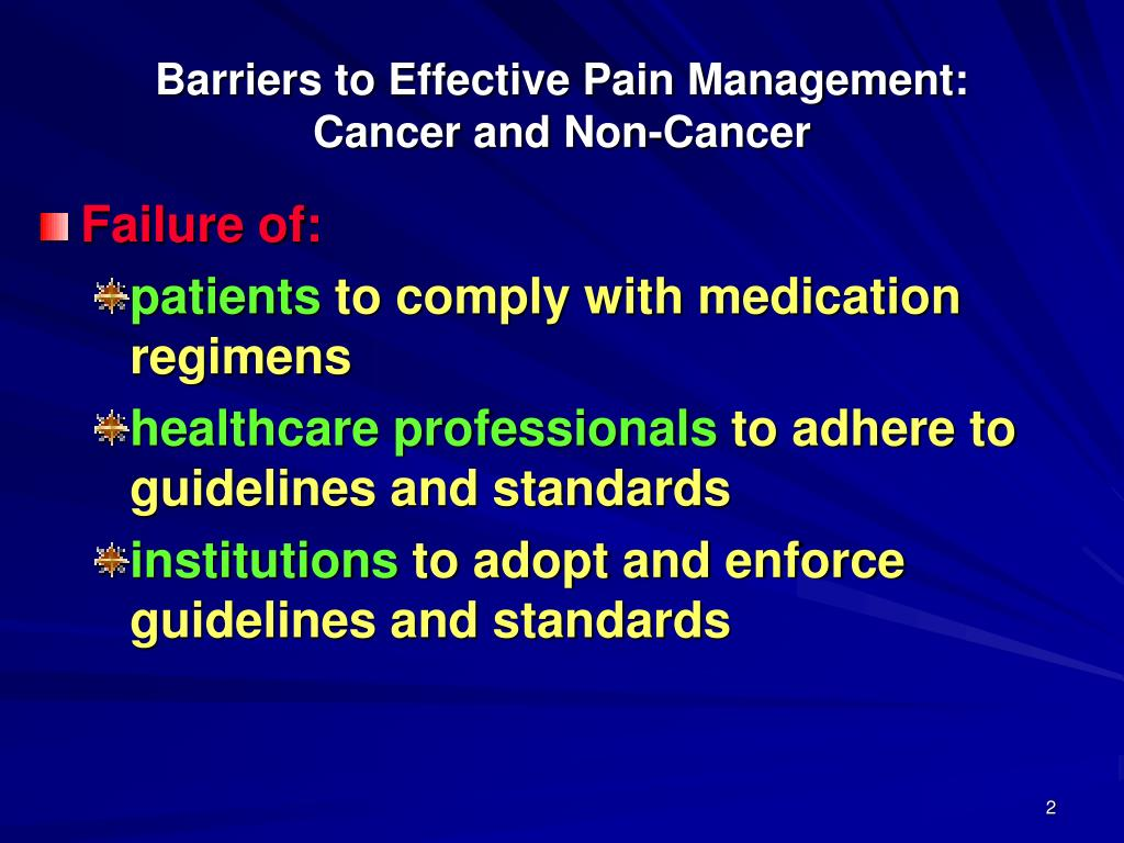 barriers to effective pain management essay