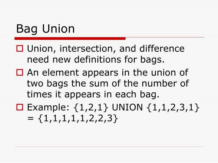 Bag Union