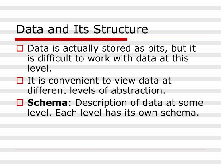 Data and its structure